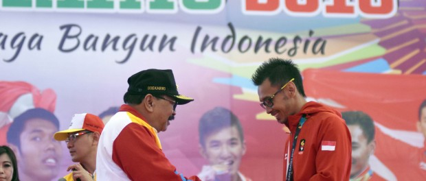 salah satu atlet panjat tebing andalan Jatim Abudzar Yulianto